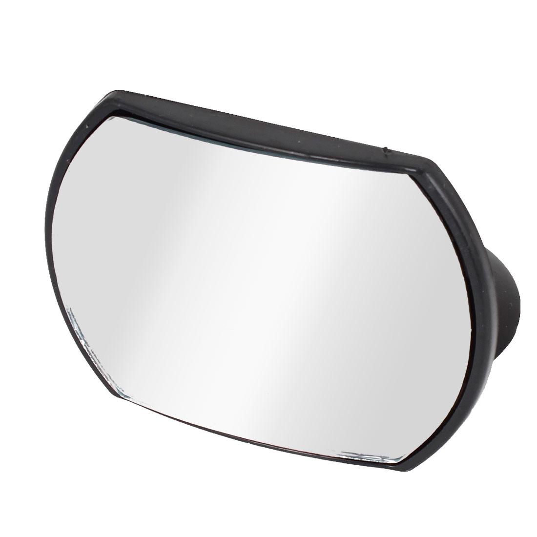 Black Plastic Frame Blind Spot Mirror 9cm x 6cm for Auto Car