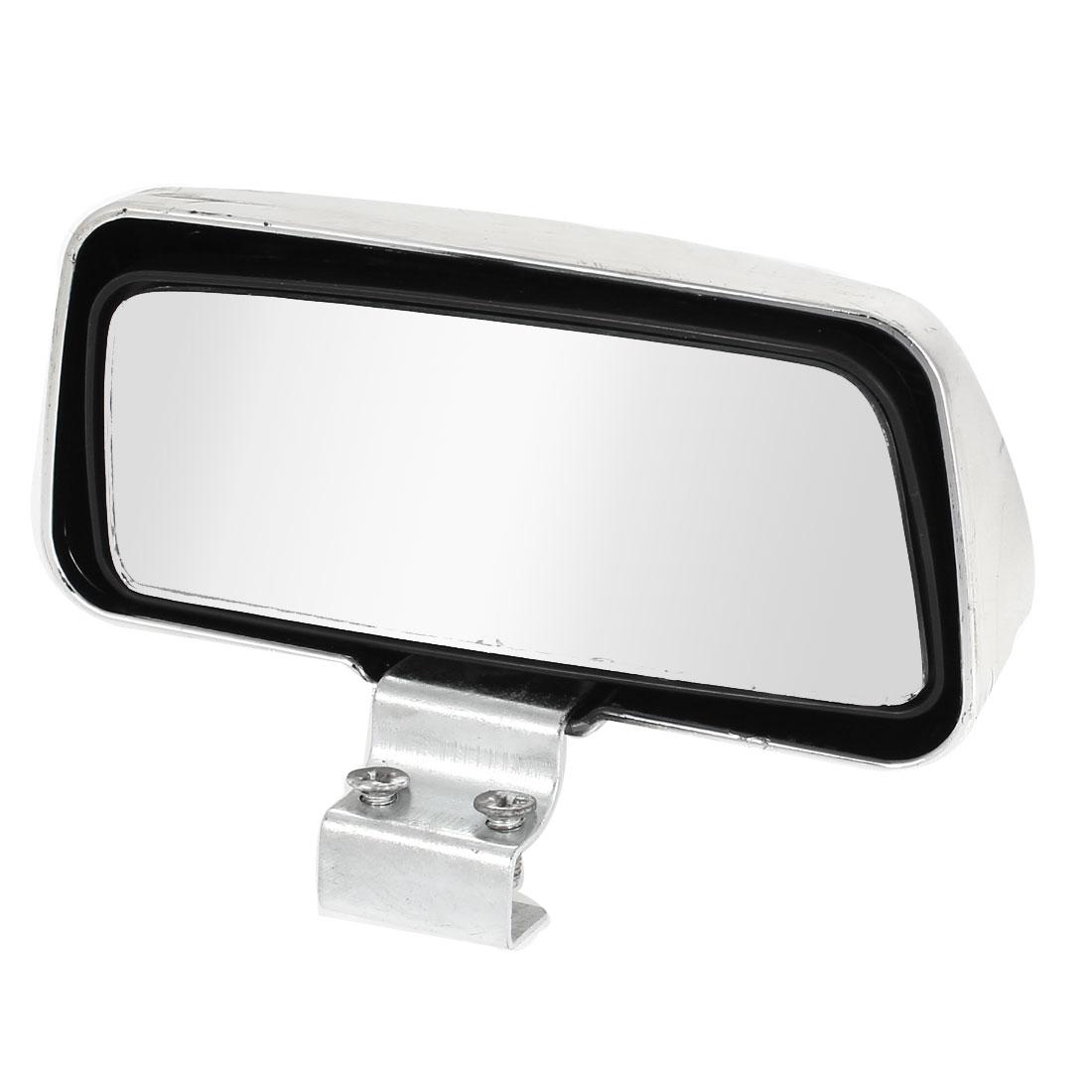 Universal Car Adhesive Rear View Blind Spot Mirror Silver Tone 11 x 4.5cm