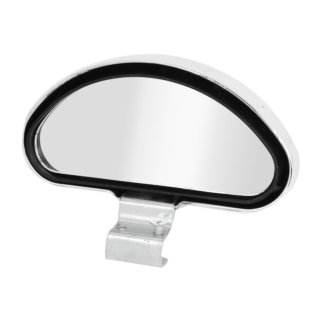Auto Silver Tone Plastic Adjustable Wide Angle Rearview Blind Spot Mirror