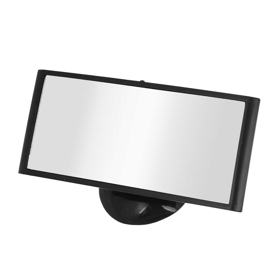 Car Suction Cup Adjustable Rectangle Blind Spot Parking Rearview Mirror Black