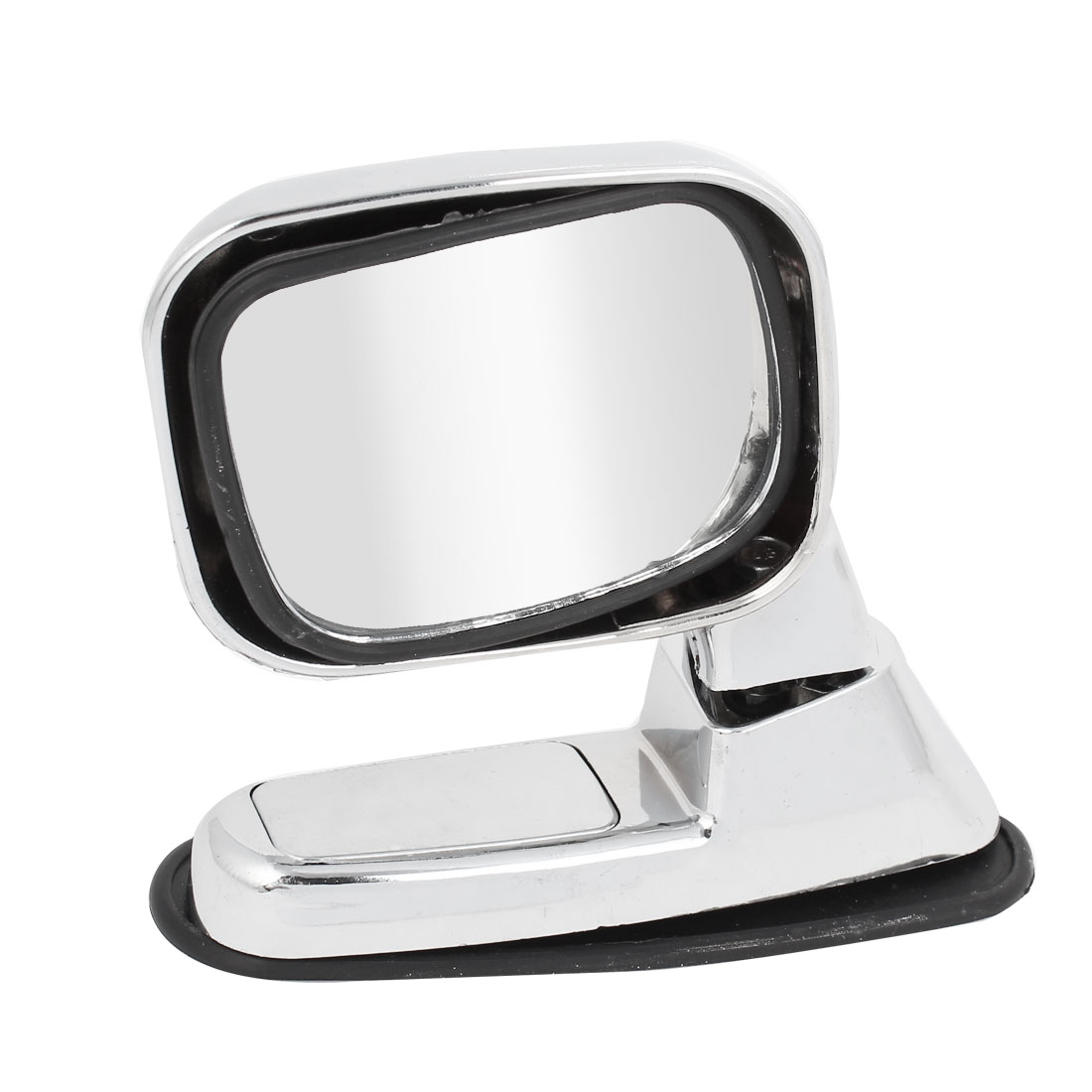 Car Silver Tone Plastic Shell Rotatable Left Right Sideview Assistant Mirror