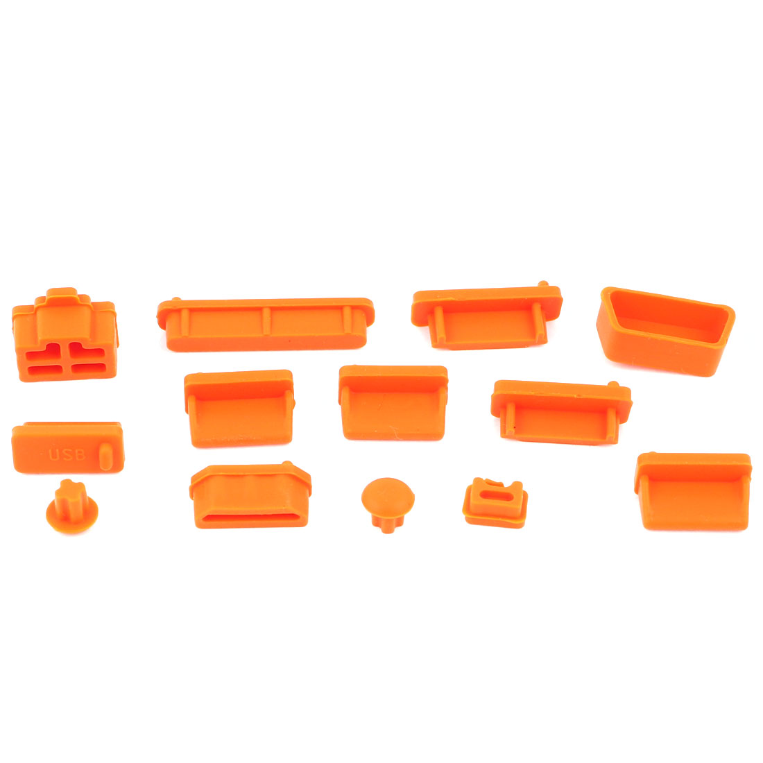 13pcs Orange Silicone Anti-Dust Connector Cover Stopper for Laptop Notebook