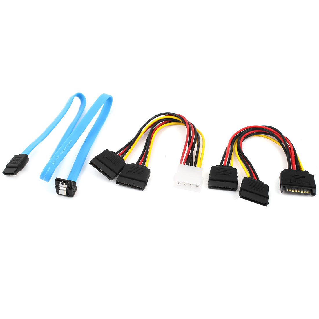 SATA 15 Pin Female to IDE 4 Pin Male ATA Serial 7 Pin Power Adapter Cable
