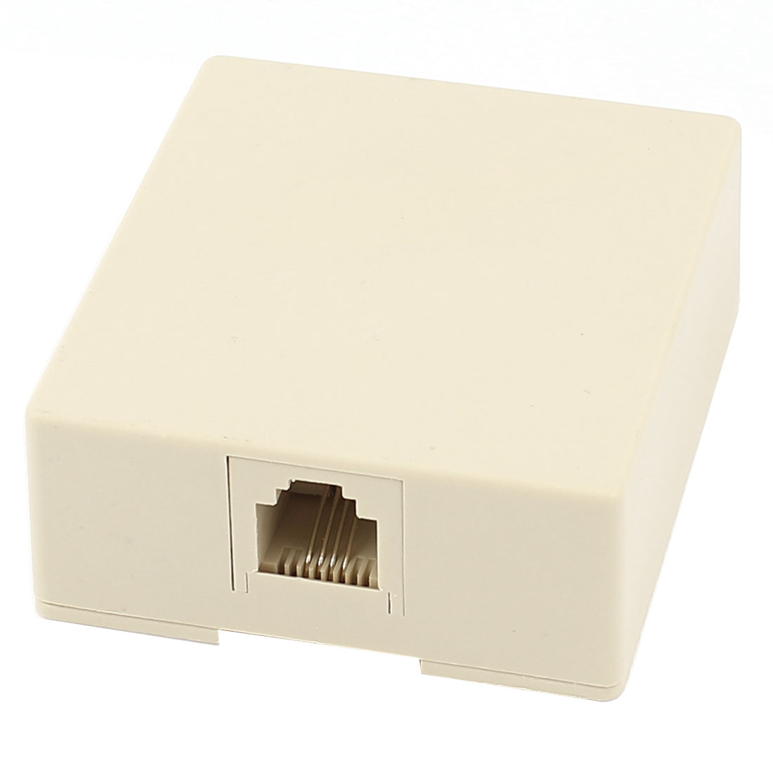RJ11 4 Pin Telephone Modular Single Port Surface Mount Jack