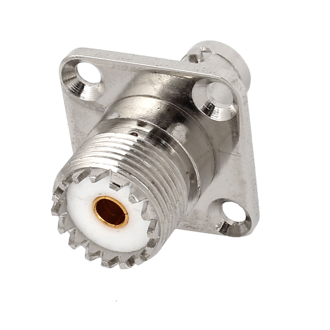 BNC Female to UHF Female Jack 4 Hole Panel Mount RF Adapter Connector