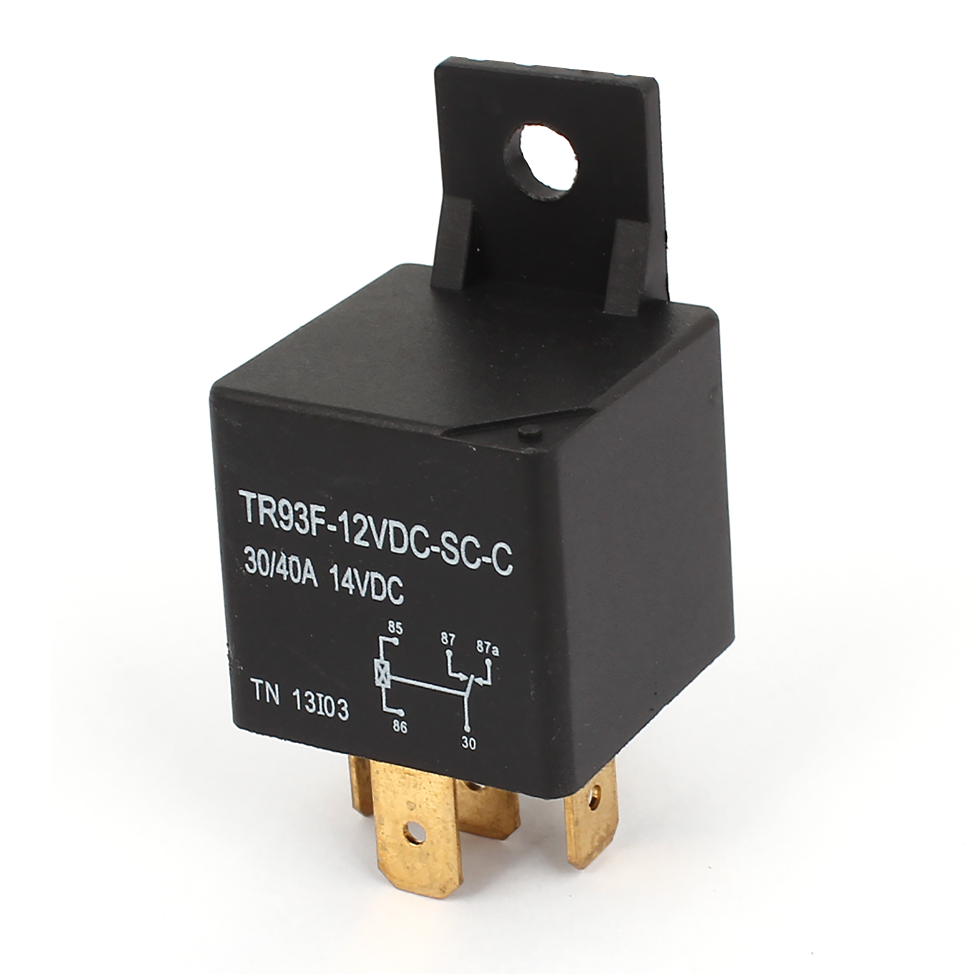 TR93F-12VDC-SC-C DC 12V Coil 5 Pins Car Auto Power Relay Black