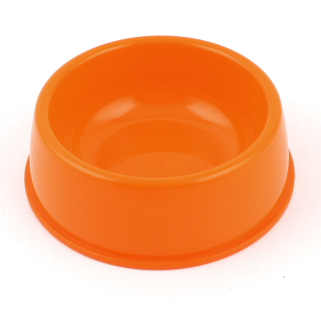 Plastic Food Water Drinking Feeder Bowl Dish Orange for Pet Cat Doggie