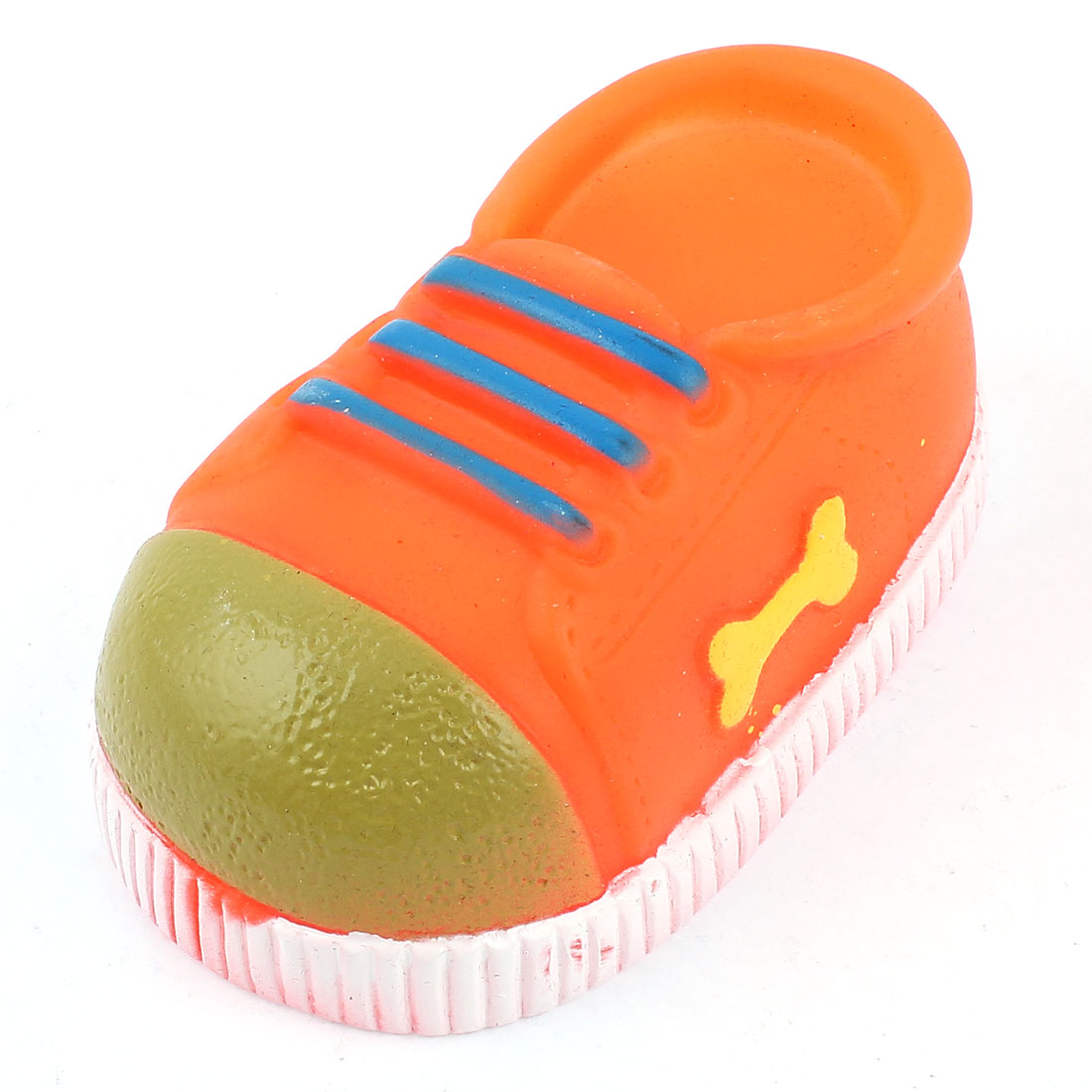 Sneaker Shaped Playing Chewing Squeeze Toy Orange for Pet Dog Puppy Cat