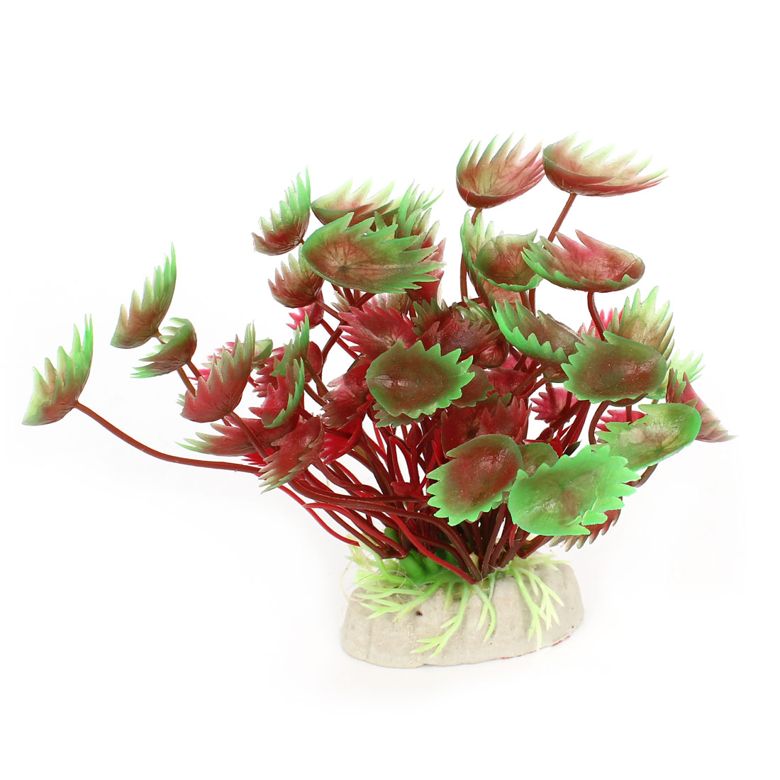 "4.3"" High Artificial Green Burgundy Aquatic Grass Plant Decoration for Fish Tank"
