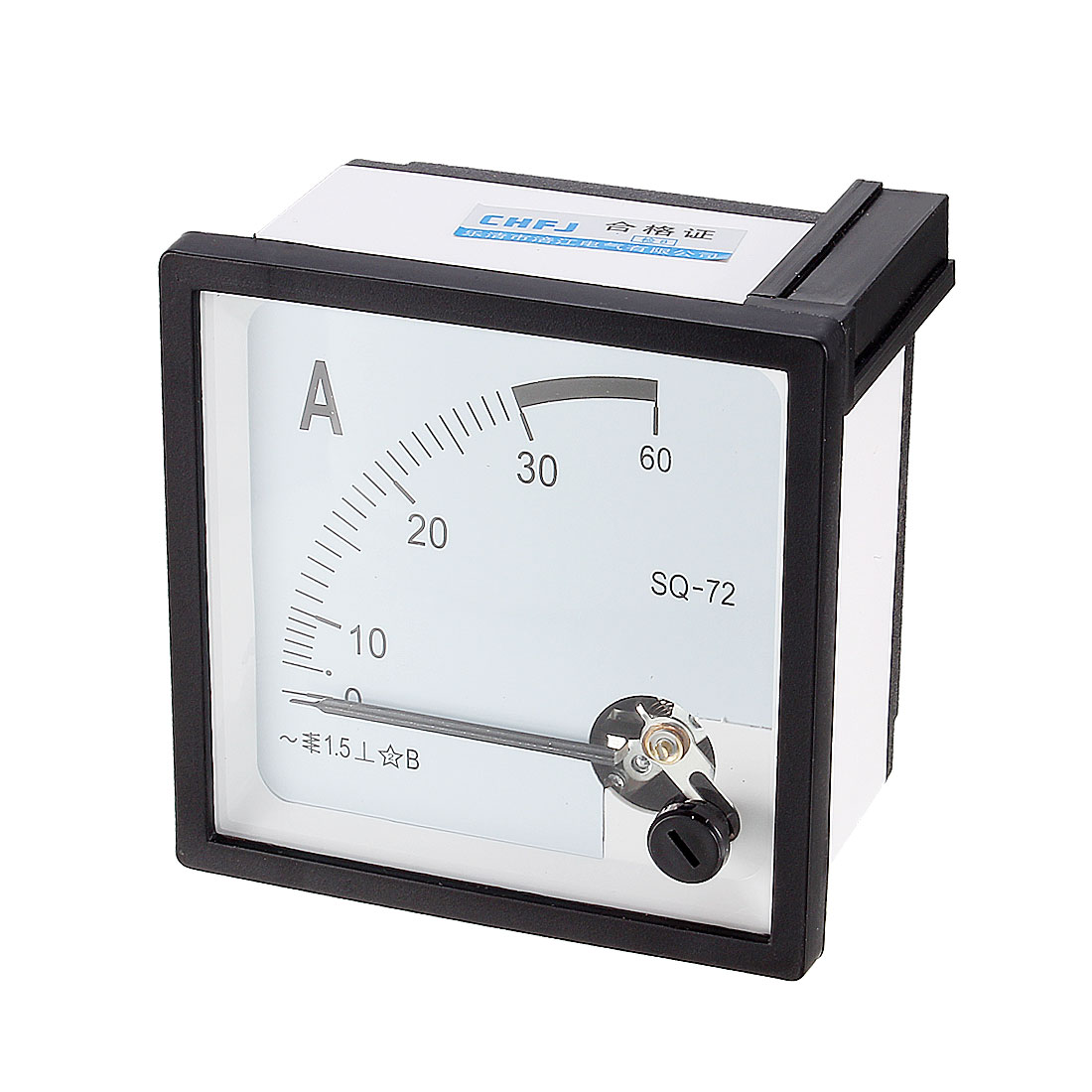 Black White AC 0-30A Analog Ammeter Panel Ampere Current Meter SQ-72