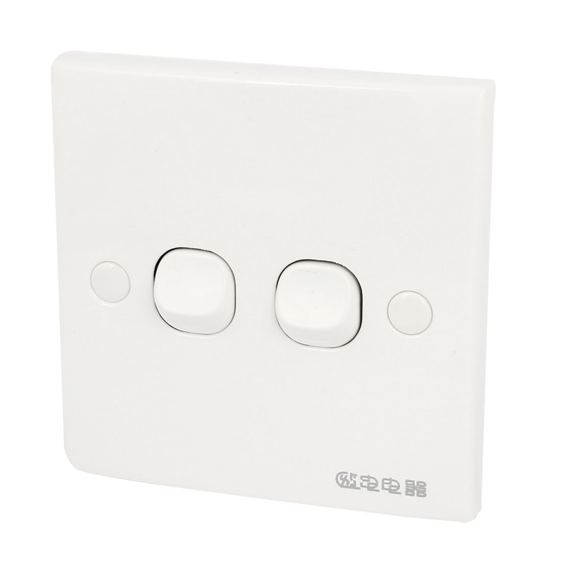 Square Screw Mounted Double Buttons Wall Plate Switch AC 250V 10A