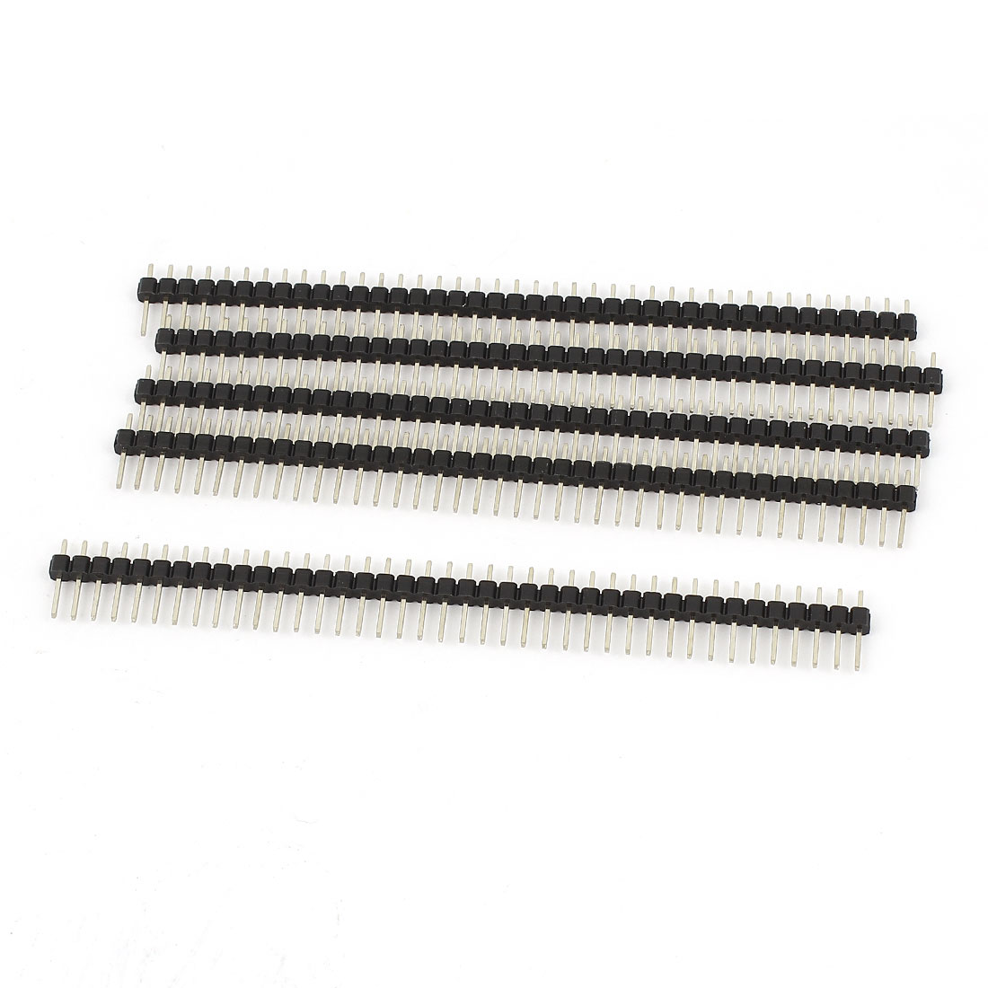 5 Pcs 1x40 Pin 2.54mm Pitch Straight Male Breadboard Connector Header