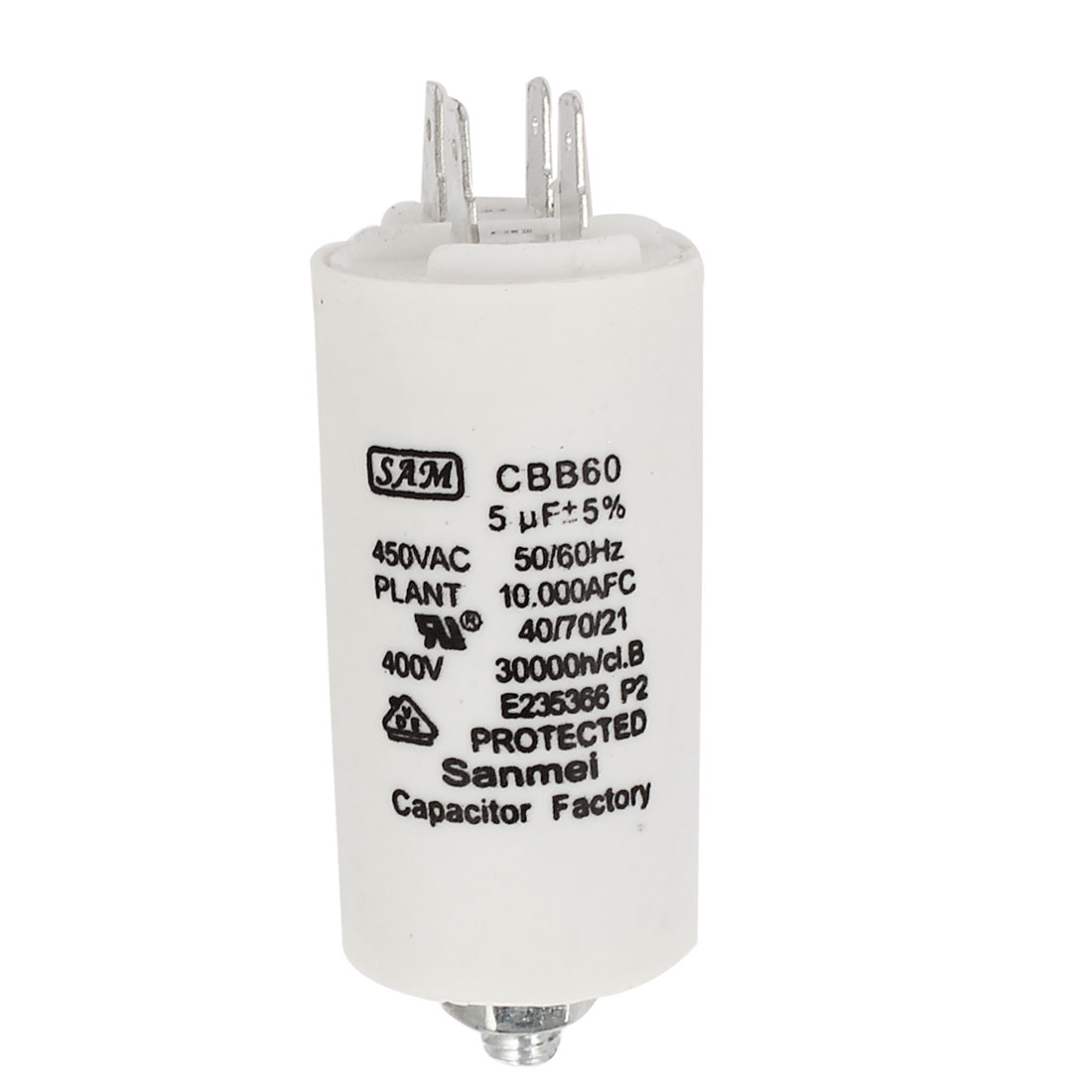 AC 450V 5uF 8mm Thread Washing Machine Polypropylene Film Capacitor