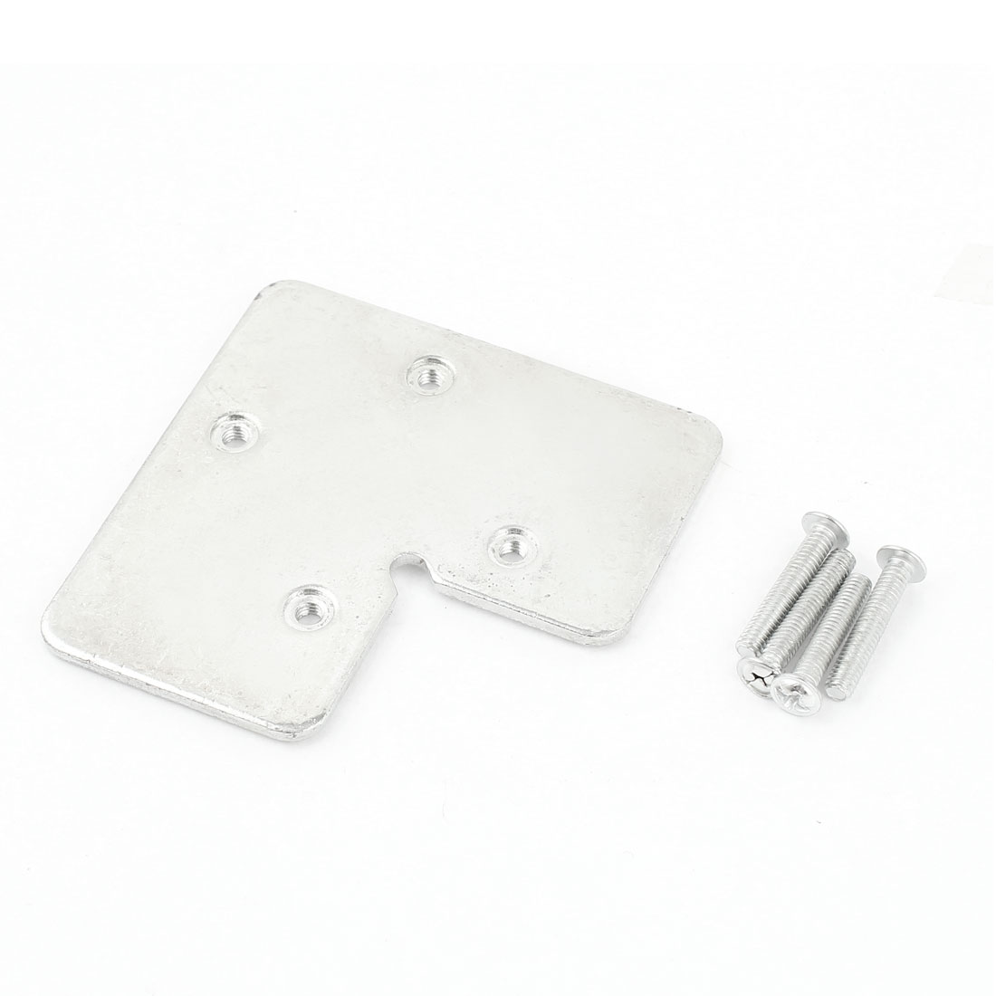 Angle Plate Corner Brace Flat L Shape Repair Bracket Silver Tone 70mm x 70mm