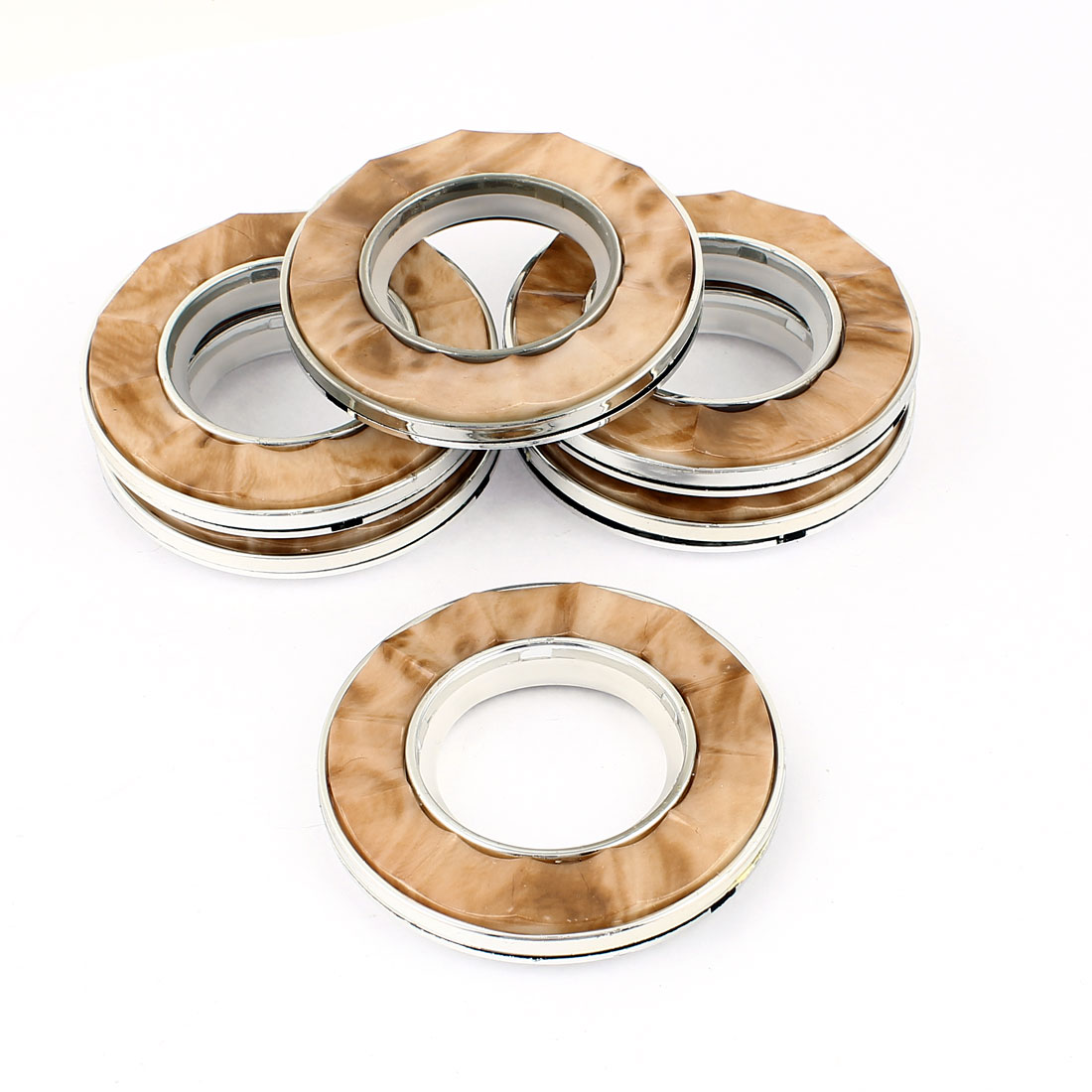 6 Pcs 40mm Inner Dia Round Plastic Ring for Eyelet Curtain Drapery