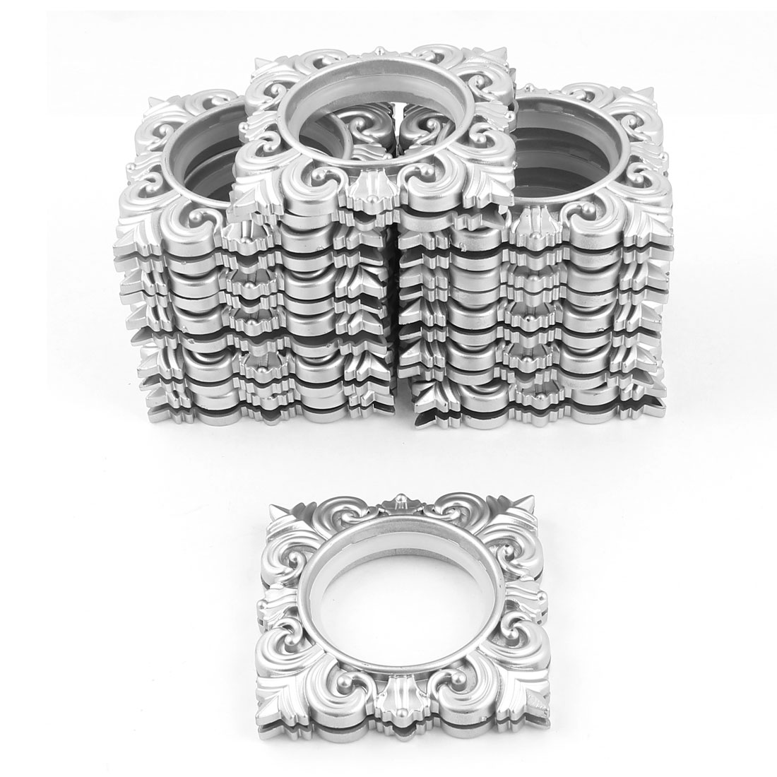 12 Pcs Silver Tone Square Rings 45mm Inner Dia for Eyelet Curtain