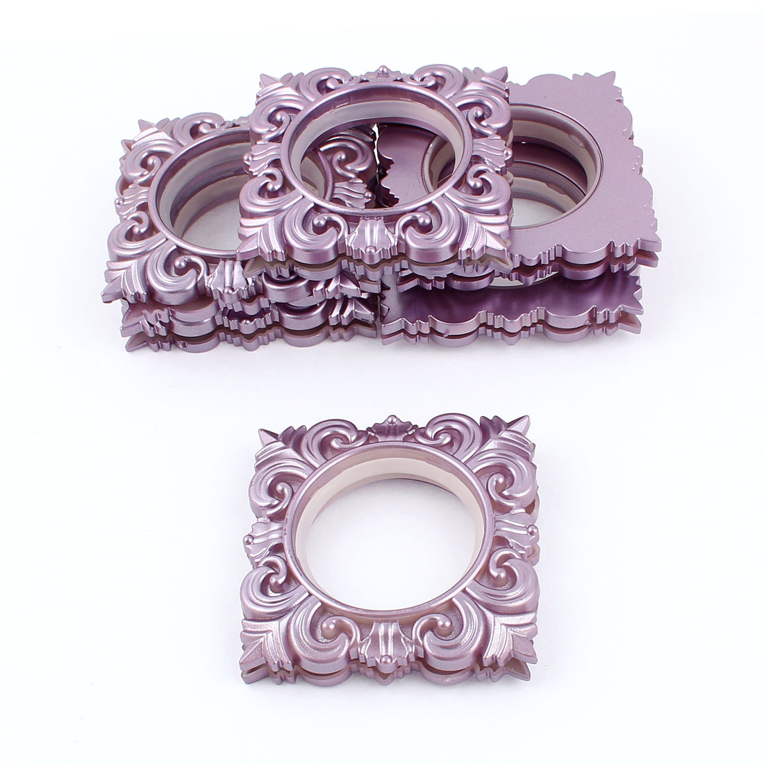 6 Pcs Square Rings Purple 45mm Inner Diameter for Eyelet Curtain