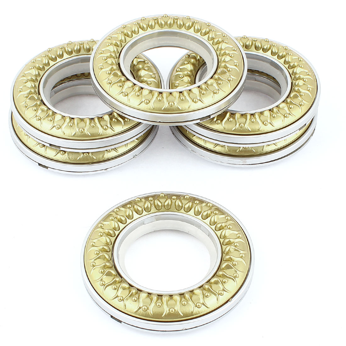 6 Pcs Two Tone Round Plastic Ring 40mm Inner Dia. for Eyelet Curtain
