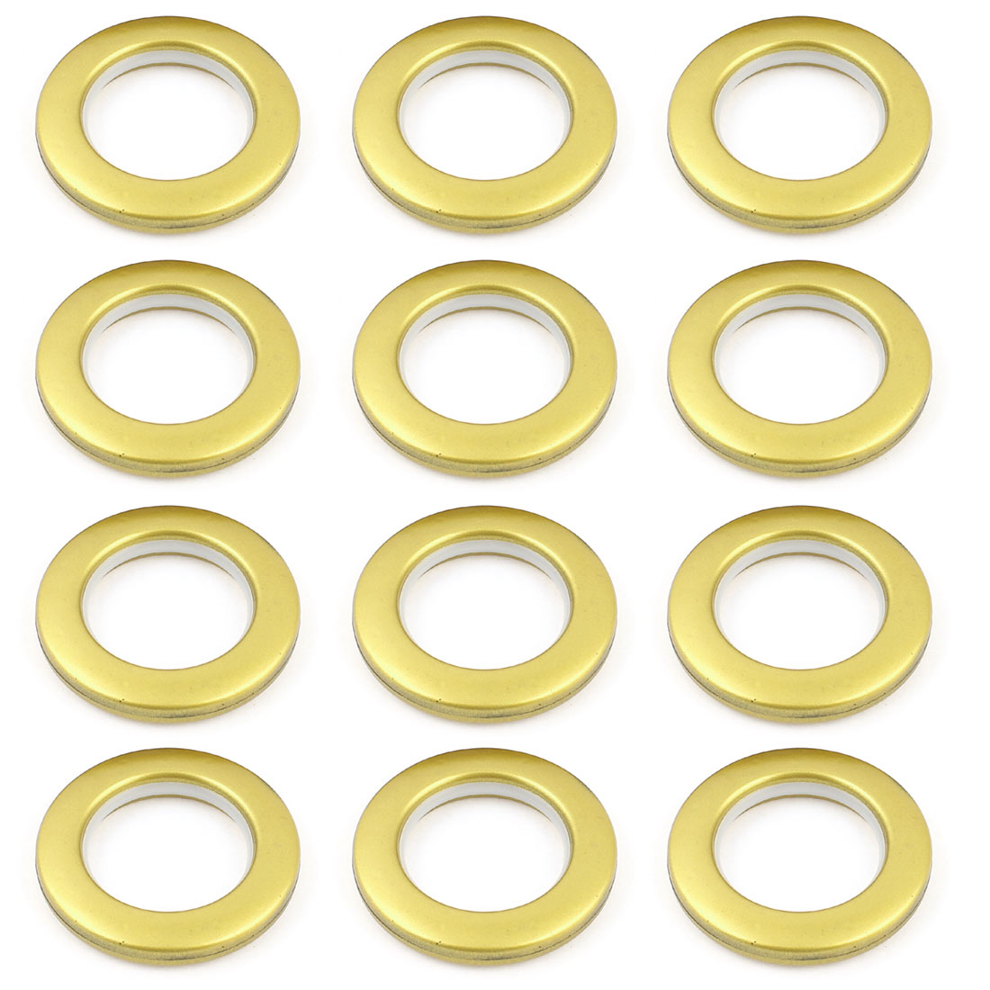 Home Window Curtain Rings Gold Tone 42mm Inside Diameter 12 Pcs