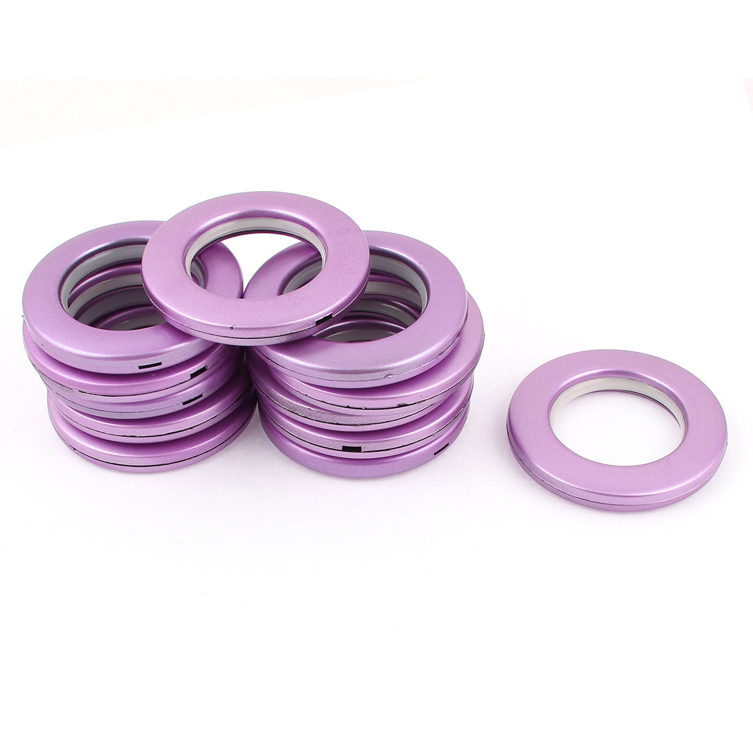 12 Pcs Round Shape Purple Plastic Curtain Rings 41mm Inner Diameter