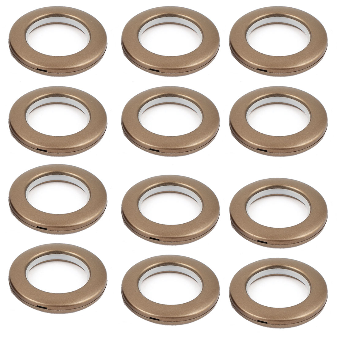 12 Pcs 41mm Inner Diameter Coffee Color Plastic Window Curtain Rings