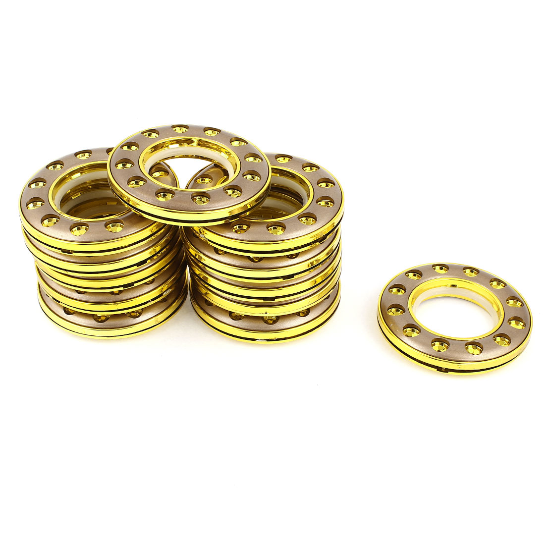 12 Pcs Round Shape 41mm Inside Dia Gold Tone Rings for Eyelet Curtain