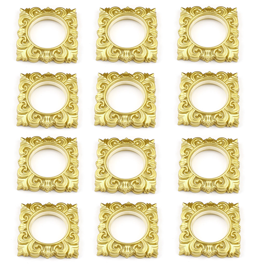 12 Pcs 45mm Inside Diameter Square Plastic Ring for Eyelet Curtain Drapery
