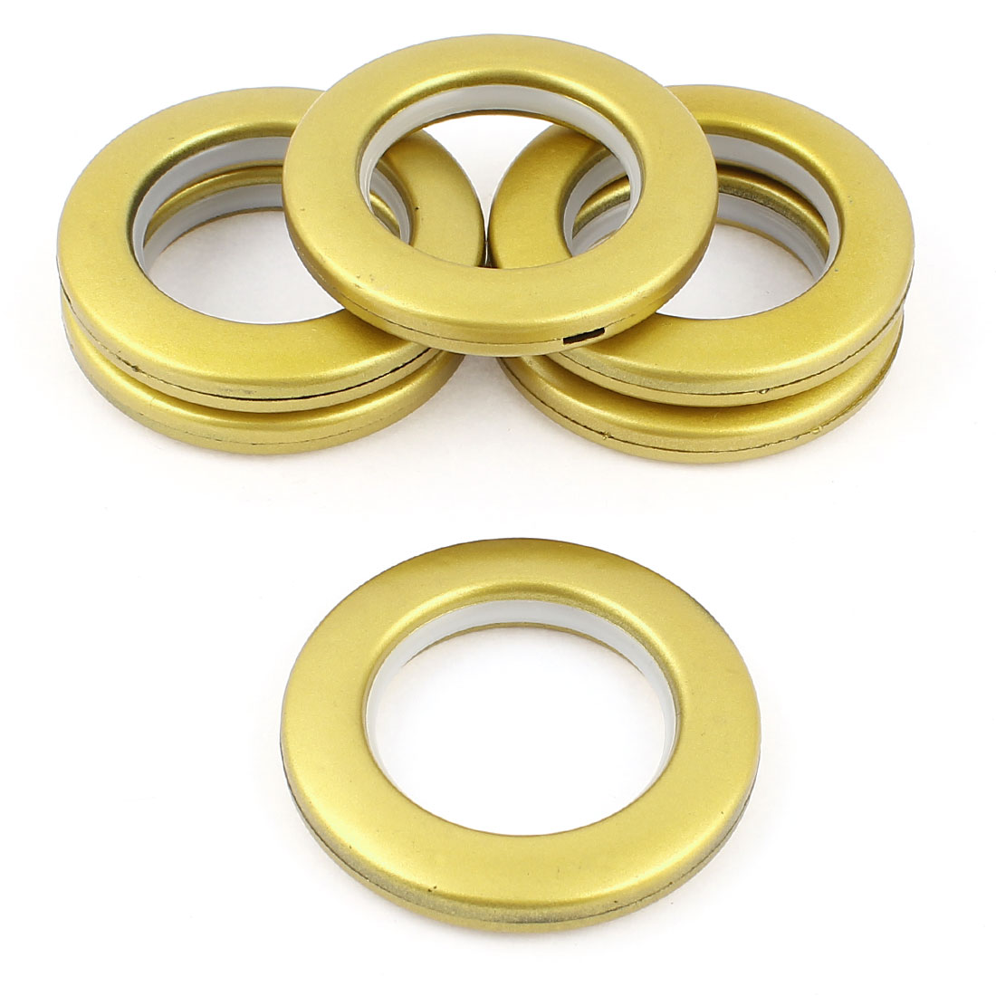 6 Pcs Gold Tone Plastic Rings 41mm Inner Diameter for Eyelet Curtain