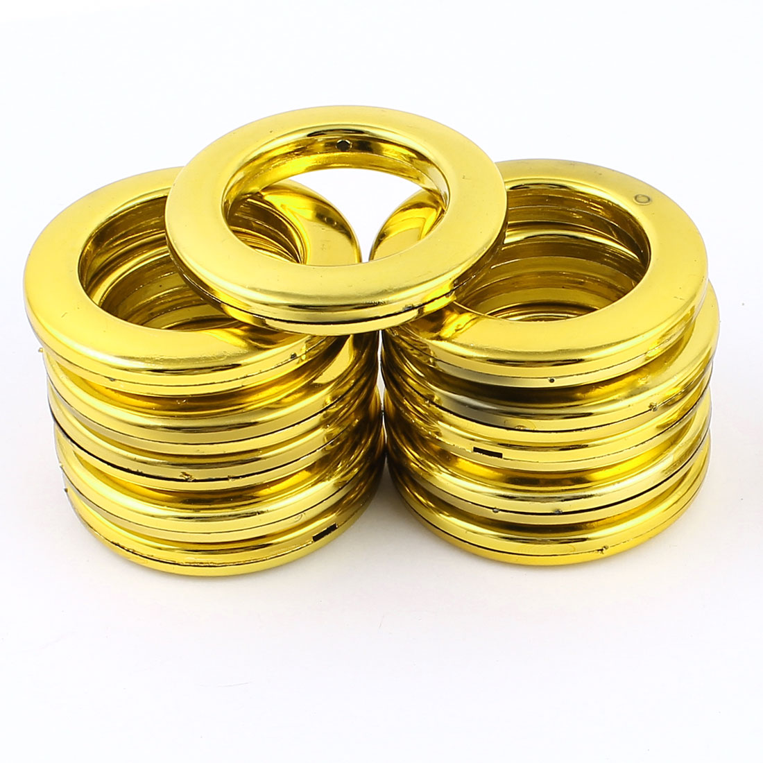 12 Pieces Gold Tone Round Shaped Window Curtain Rings 41mm Inner Dia