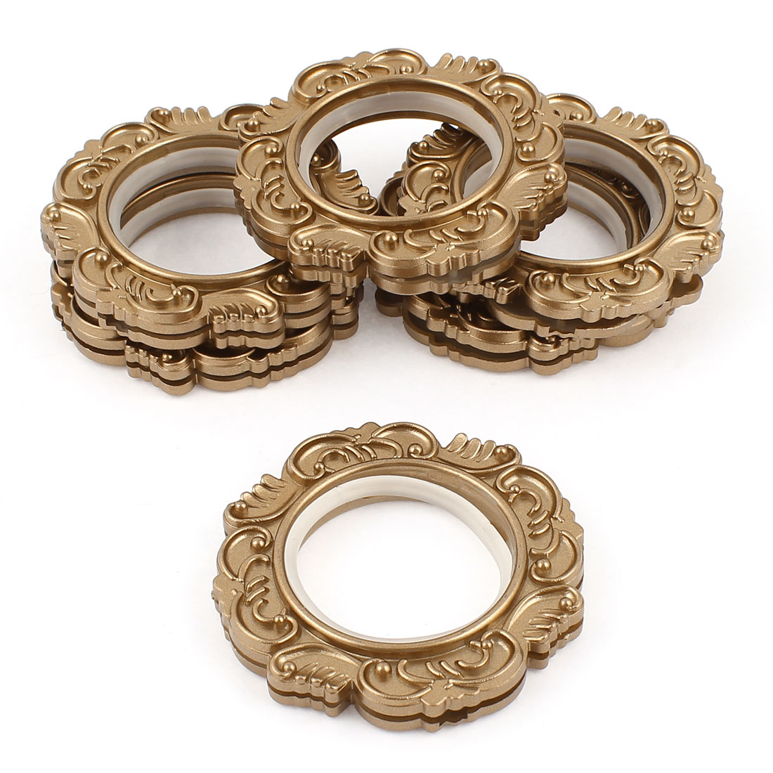 6 Pcs Coffee Color Retro Style Round Rings 45mm Inner Dia for Eyelet Curtain