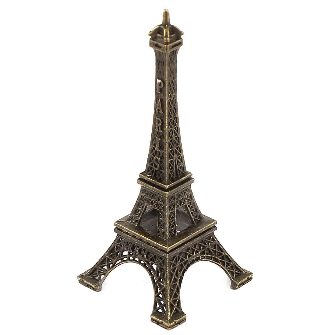 Bronze Tone Metal Paris Miniature Eiffel Tower Model Souvenir Decoration 3.1""