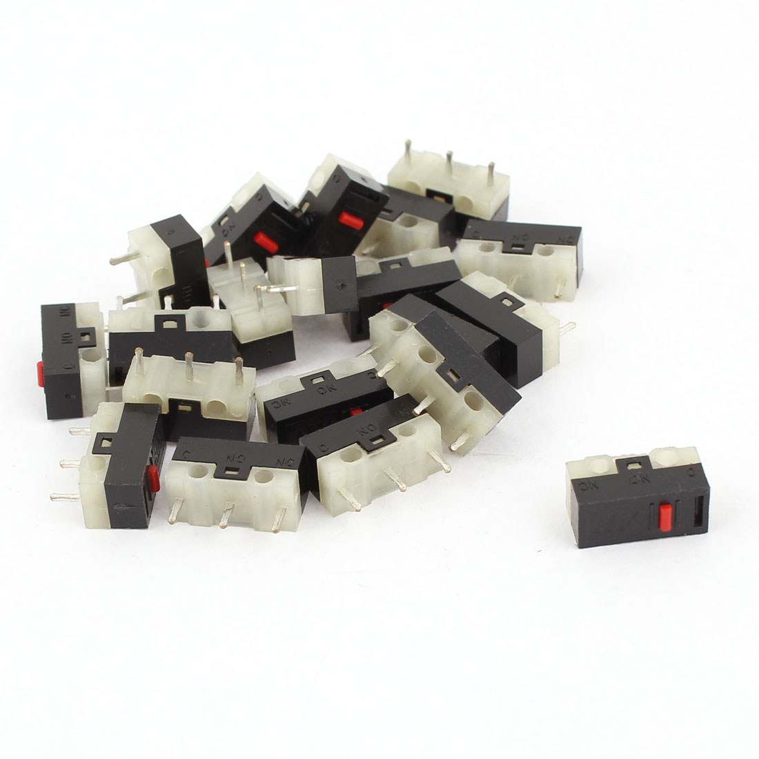 20 Pcs AC 125V 1A 3 Pin Terminal 1NO 1NC Momentary Type SPDT Mini Micro Switches
