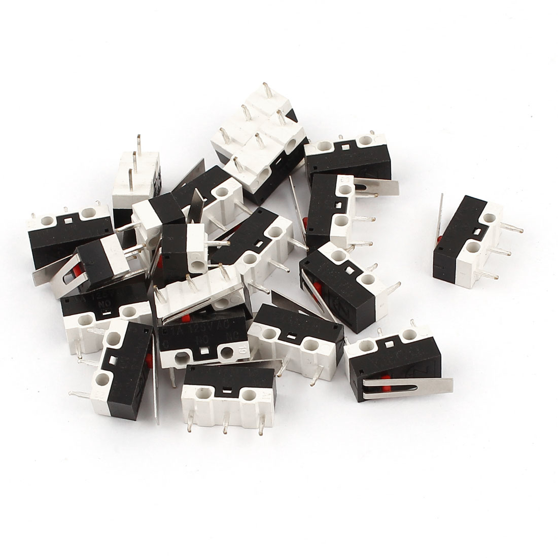 20 Pieces AC 125V 1A 3 Pin Terminal 1NO 1NC Momentary Action SPDT Micro Switches
