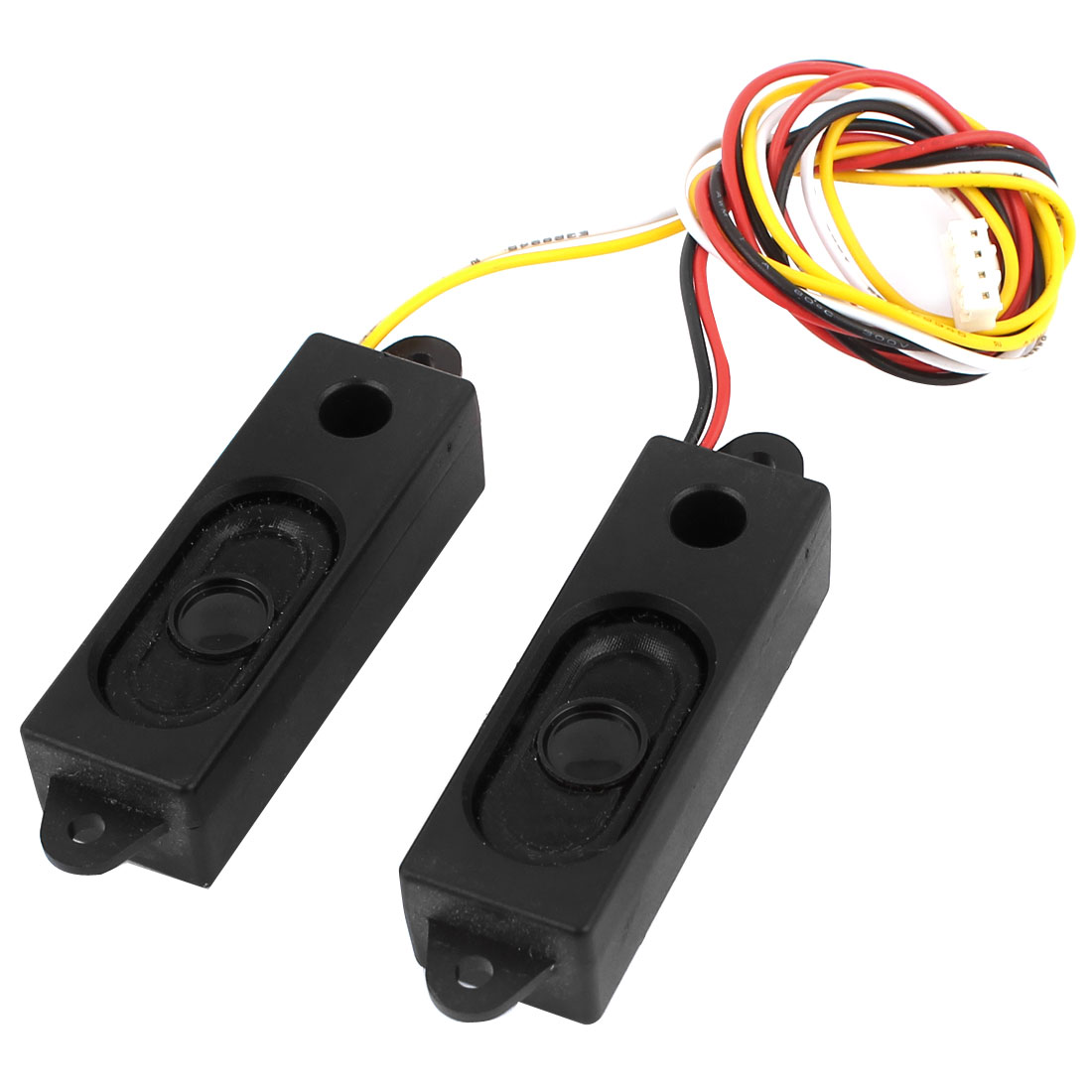 Pair Black Plastic Housing 2W 8 Ohm Wired Audio Speakers for Controller Board