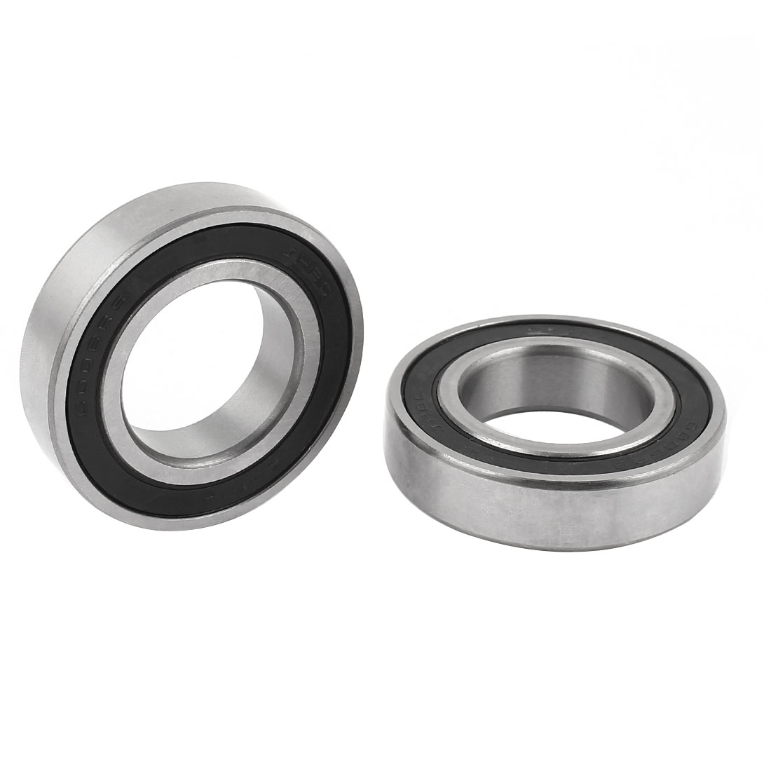 2 Pcs 30mm x 55mm x 13mm Seal Deep Groove Ball Wheel Bearing 6006