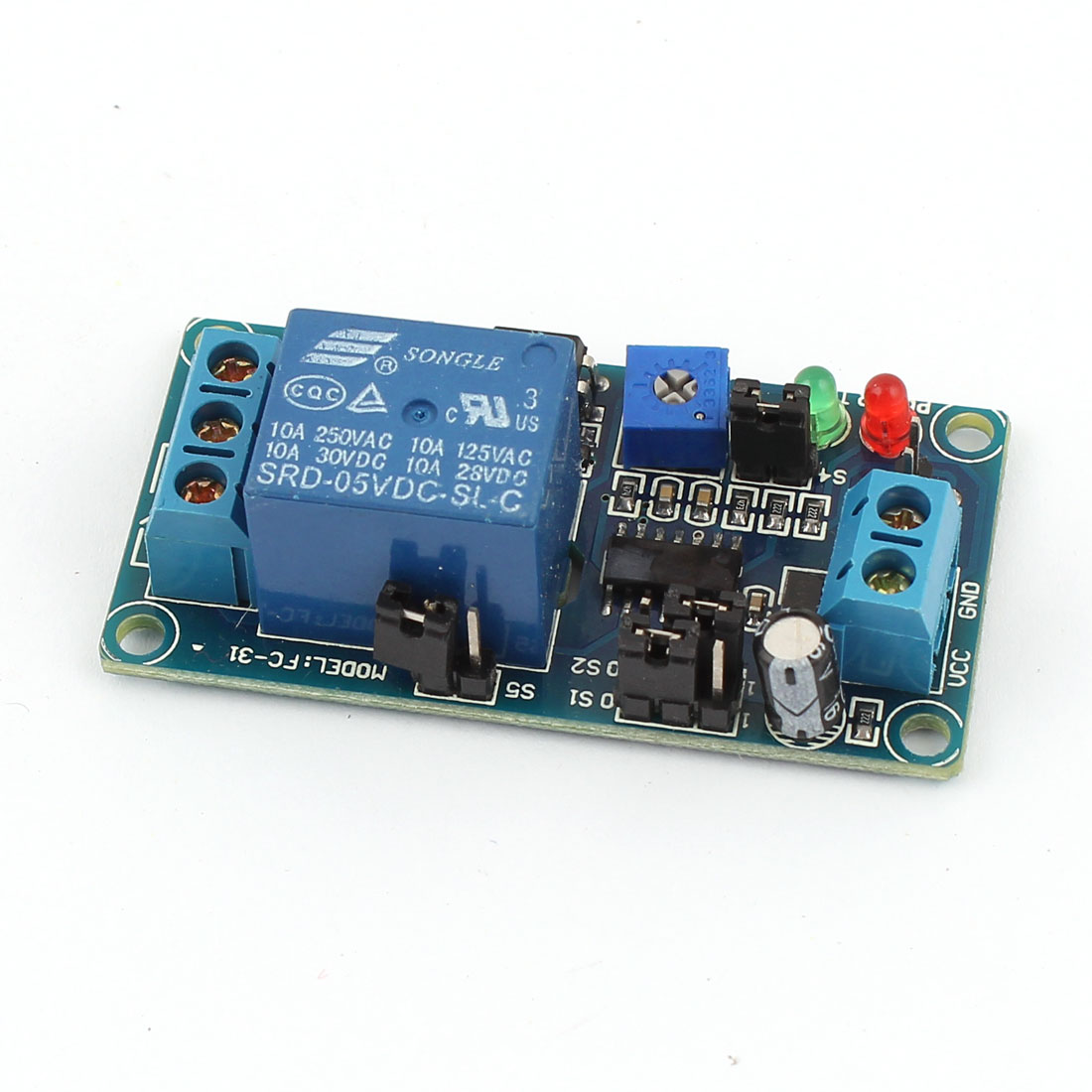 DC 5V SRD-05VDC-SL-C NC Circulate Time Delay Relay Module Board