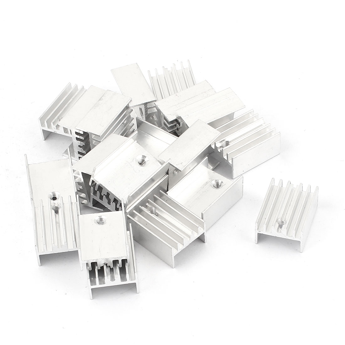 20 Pcs 2.5mm Hole Aluminium 20mmx15mmx10mm Heatsink Heat Sink Cooling Cooler Fin