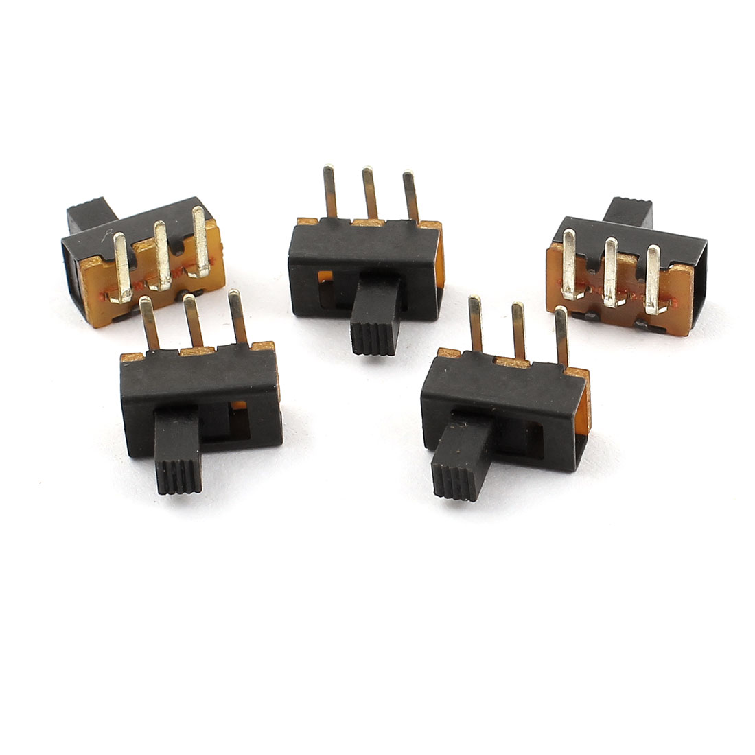 5 Pcs 3Pins PCB Mounted 2 Positions SPDT Vertical Slide Switch ON/OFF