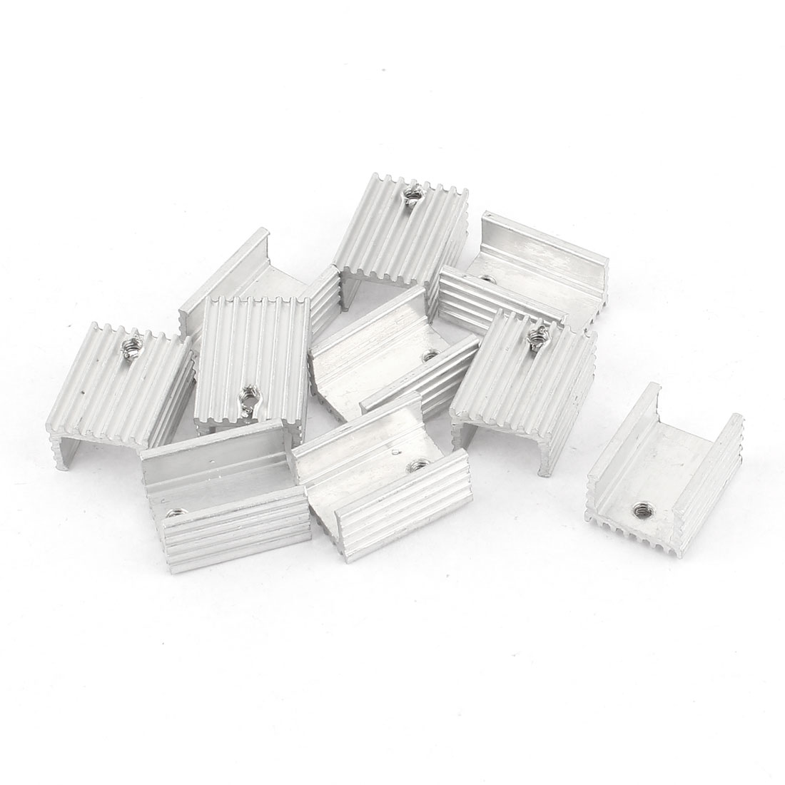 10 Pcs 2.5mm Hole Aluminium 20mmx15mmx10mm Heatsink Heat Sink Cooling Cooler Fin