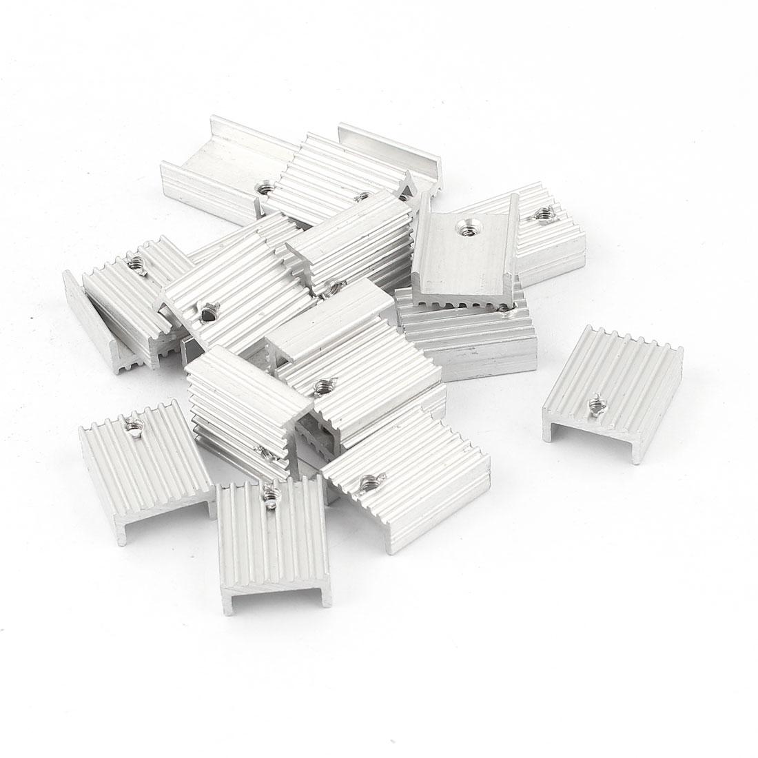 20 Pcs 2.5mm Hole Aluminium 20mmx15mmx7mm Heatsinks Heat Sink Cooling Cooler Fin