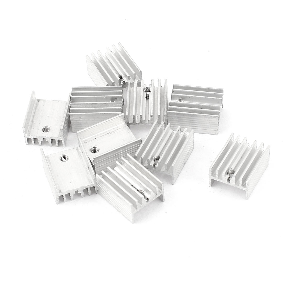 10 Pcs 2.5mm Hole Aluminium 19mmx15mmx10mm Heatsink Heat Sink Cooling Cooler Fin