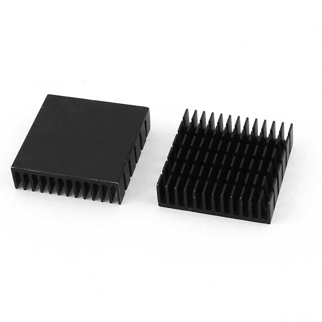 2 Pieces Black Aluminum Heat Sink Cooling Fin Cooler 40mmx40mmx11mm Replacements