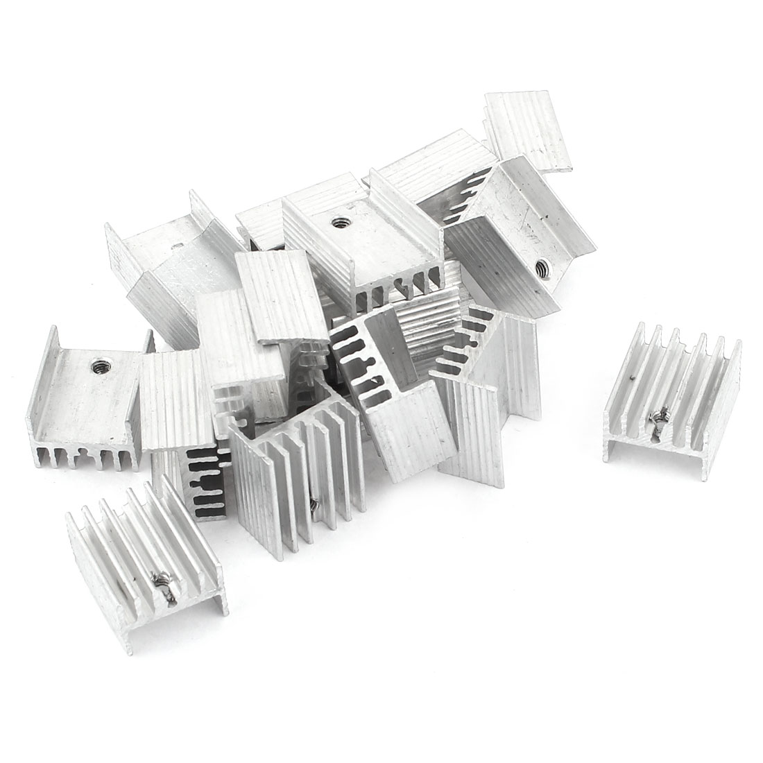 20 Pcs 2.5mm Hole Aluminium 19mmx15mmx10mm Heatsink Heat Sink Cooling Cooler Fin