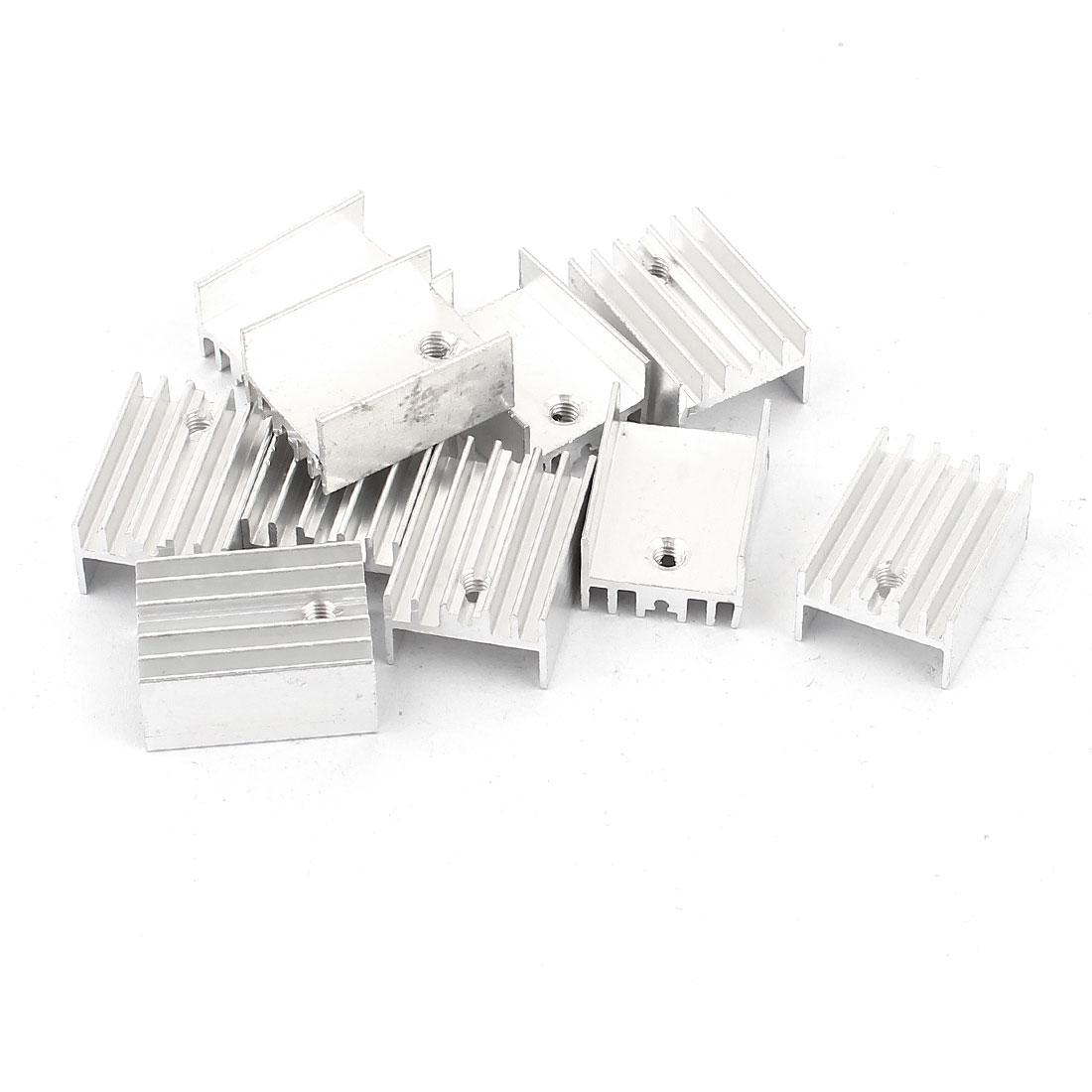 10 Pcs Aluminium 20mmx15mmx10mm Heatsink Radiator Cooling Cooler Fin Silver Tone