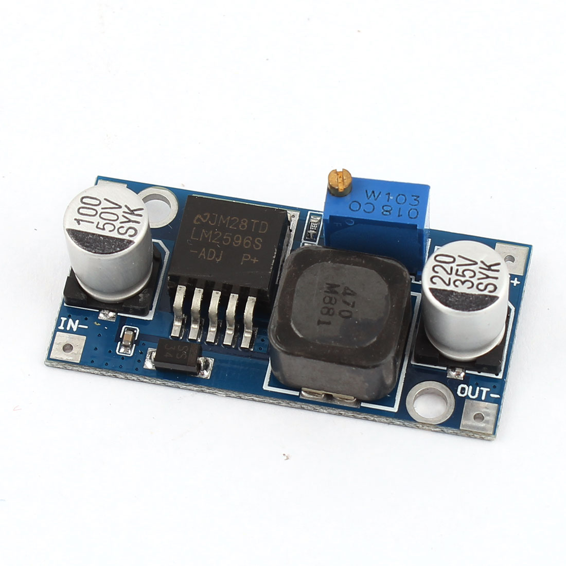 LM2596S DC 1.25V-27V 3A Mini DC-DC Step Down Adjustable Power Supply Module
