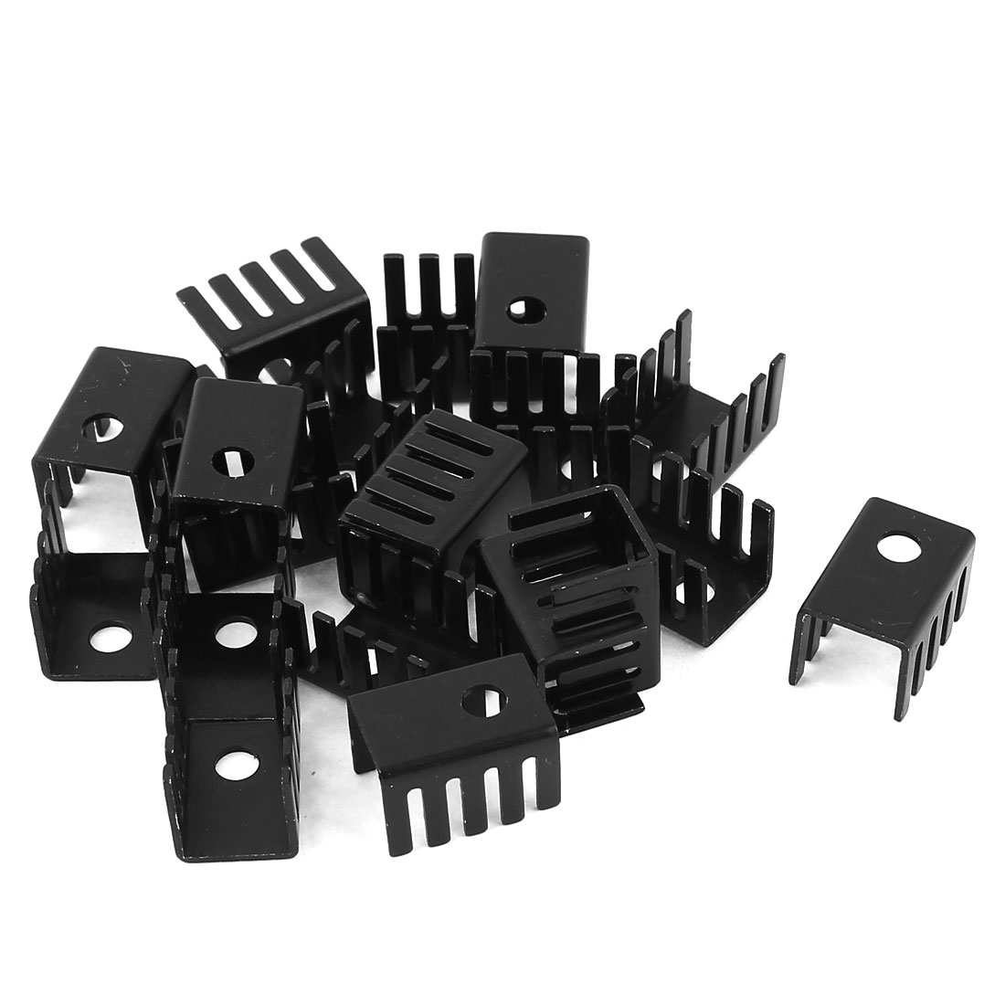 20 Pcs Aluminum Heat Sink Heatsink Radiator 19x13x13mm Black for Mosfet IC