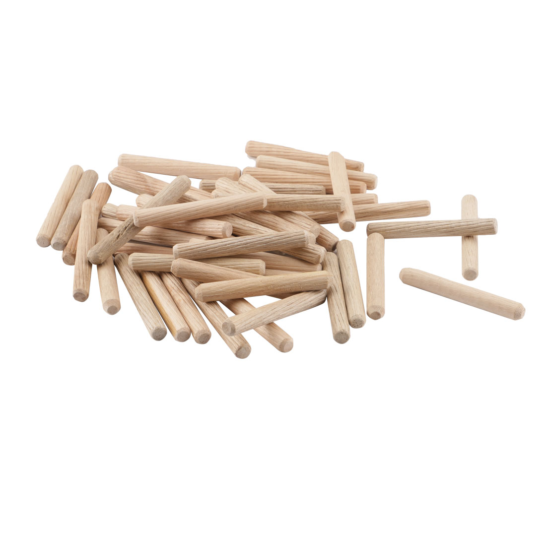 25 Pieces Furniture Cabinet Drawer Slant Line Round Wooden Dowel Pins 60mm x 8mm