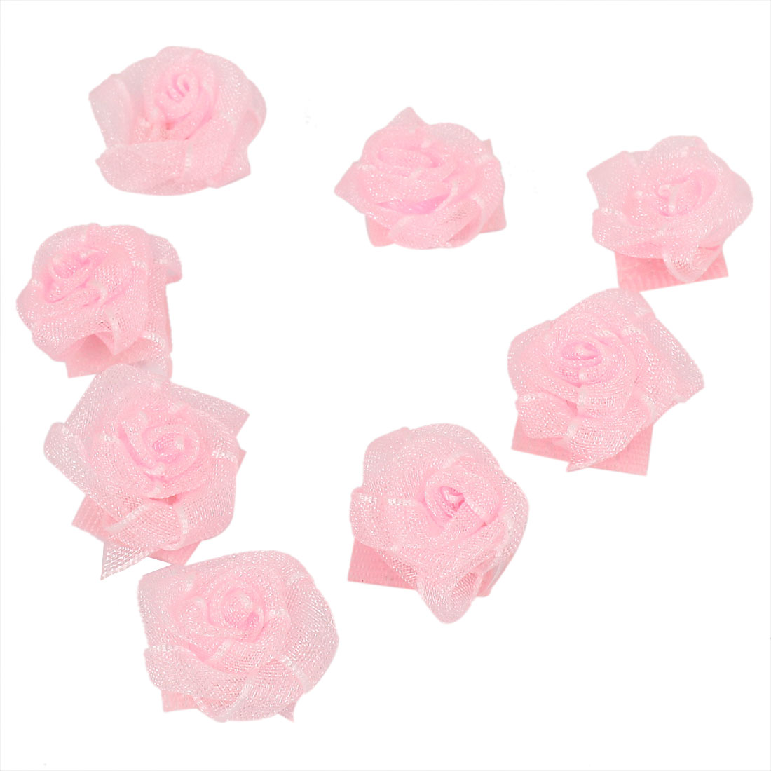 8 Pcs Pink Rose Design Hairstyle Making Hairdressing Magic Sheets for Girls