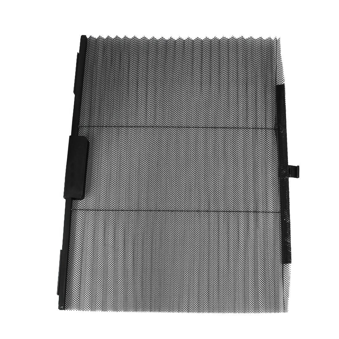 "24"" x 19"" Retractable Auto Car Internal Window Curtains Sun Shades Black"