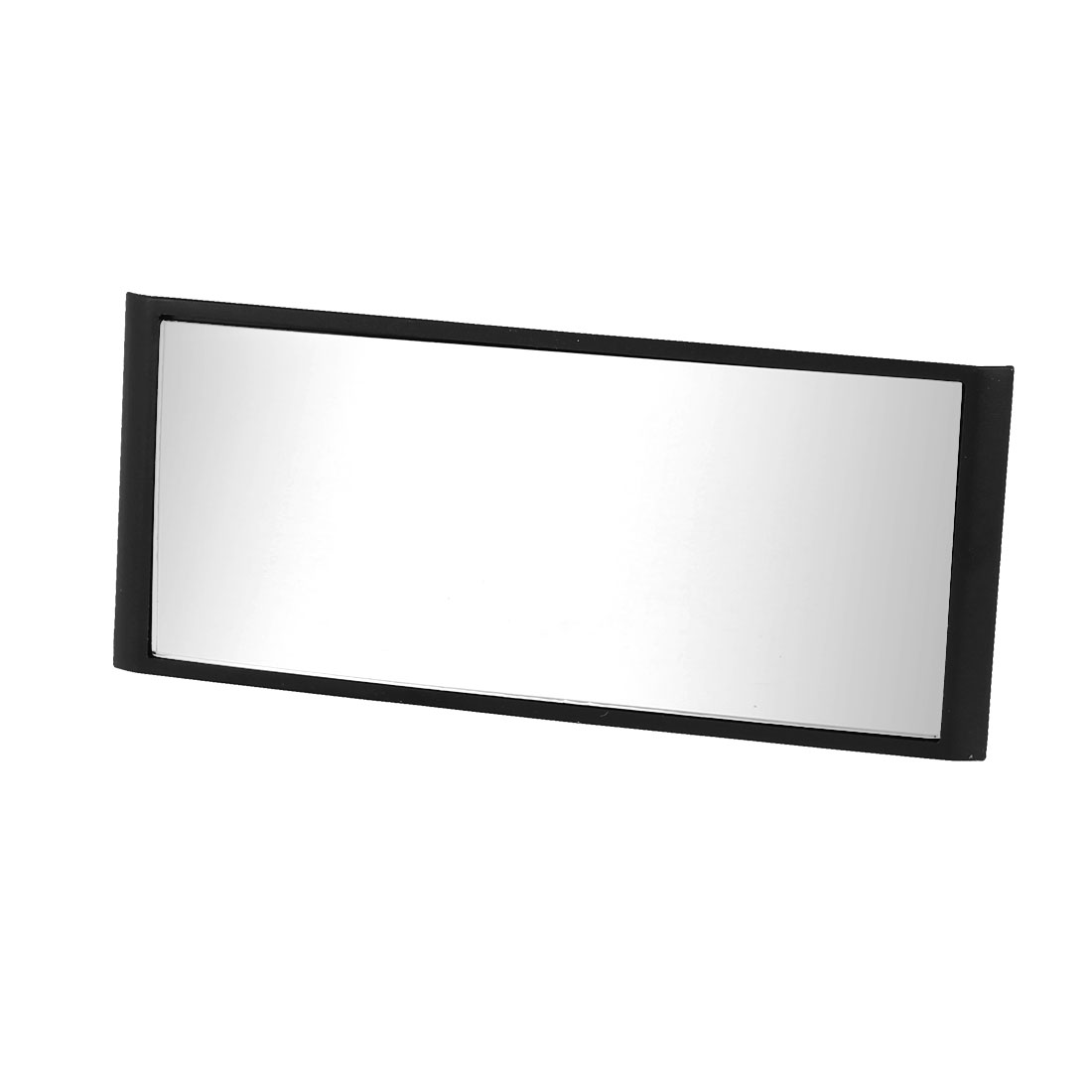 Car Black Plastic Frame Wide Angle Rectangular Interior Rearview Mirror 13cm